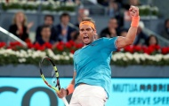 Tứ kết Madrid Masters: Nadal hủy diệt Wawrinka, Zverev thành cựu vương