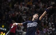 Để tài năng trẻ chủ nhà giành 2 break, Djokovic có ngày ra quân nhọc nhằn ở Paris Masters