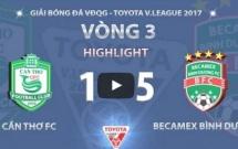 XSKT Cần Thơ 1-5 Becamex Bình Dương (Vòng 3 V-League 2017)