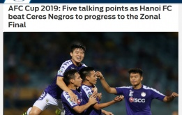 Báo châu Á chỉ ra cầu thủ xuất sắc nhất CLB Hà Nội trận thắng Ceres Negros