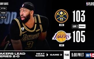 Kết quả NBA 21/9: AD thực hiện 'game-winner', Lakers thắng nghẹt thở Nuggets