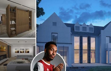 Ngôi nhà mới của Aubameyang khủng cỡ nào?