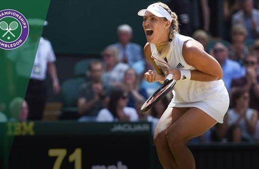 Video vượt ải Ostapenko, Kerber tái ngộ Serena ở chung kết Wimbledon