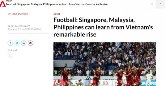 Truyền thông Singapore: Đông Nam Á nên học hỏi thành công của ĐT Việt Nam