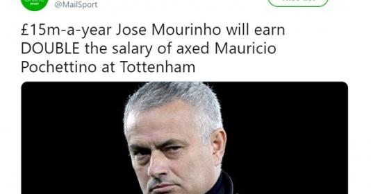 Tottenham chơi lớn, giúp Mourinho bơi trong biển tiền