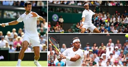 Hủy diệt đối thủ, BIG 3 thẳng tiến tứ kết Wimbledon 2019