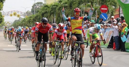 Khai mạc giải xe đạp Đồng bằng sông Cửu Long: Chiến thắng thuyết phục của tay đua trẻ