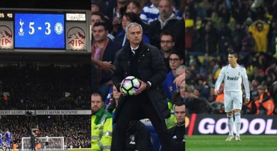 5 trận thua tủi hổ trong sự nghiệp cầm quân của Jose Mourinho