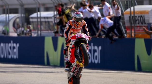 Marquez không đối thủ ở trường đua Aragon