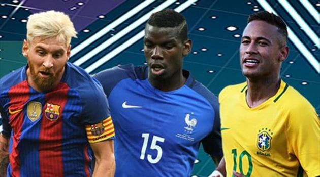 Đội hình đắt giá nhất thế giới không có tên Ronaldo