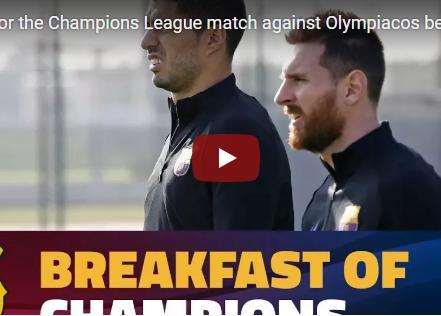 Barca luyện tập căng thẳng chuẩn bị đấu Olympiakos