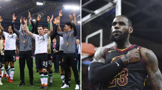King LeBron kiếm lời hàng chục triệu đô nhờ Liverpool vào chung kết Champions League