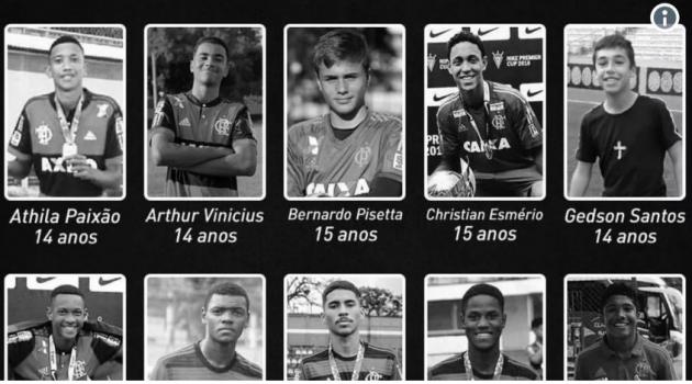 Xác nhận danh tính 10 cầu thủ thiệt mạng trong vụ hỏa hoạn Flamengo