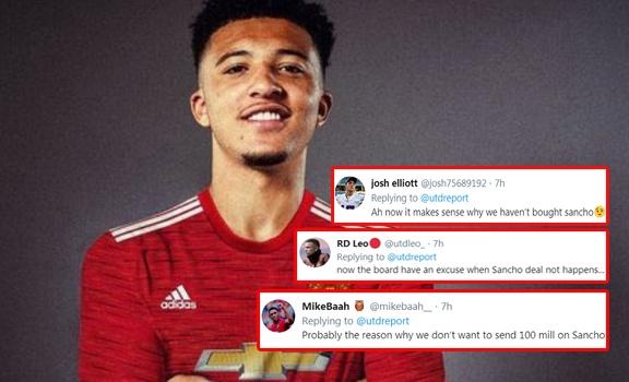 CĐV Man Utd: Đó là lý do chúng ta sẽ không thể mua Sancho đó sao?