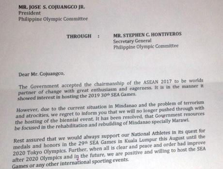 Philippines bất ngờ không đăng cai SEA Games 30