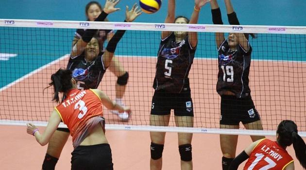 Bóng chuyền nữ Việt Nam thua nhanh trước Thái Lan