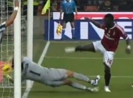 Video: Trọng tài đã cướp mất bàn thắng của Muntari (AC Milan) vs Juventus
