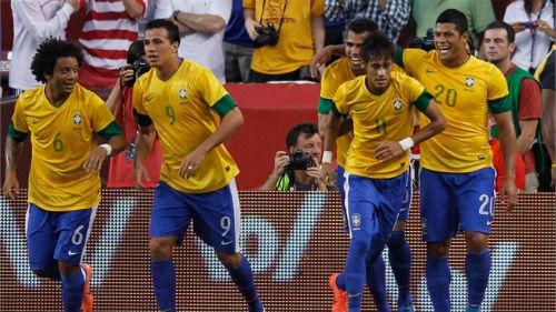 Brazil đá giao hữu với Trung Quốc và Nam Phi