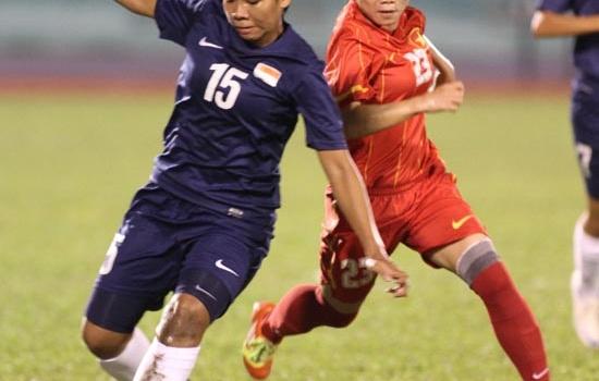 Giải vô địch Đông Nam Á: Nữ Việt Nam dội mưa bàn thắng vào lưới Singapore