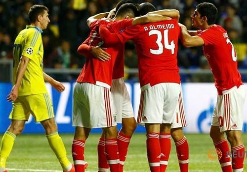 Video: Astana 2-2 Benfica (Vòng bảng Champions League)