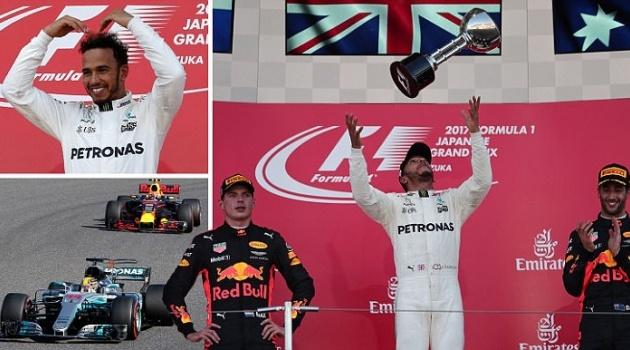 Thắng nghẹt thở ở Nhật Bản Grand Prix, Hamilton tiến gần đến ngôi vô địch