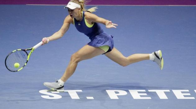 Caroline Wozniacki thua sốc ở tứ kết St Petersburg Open