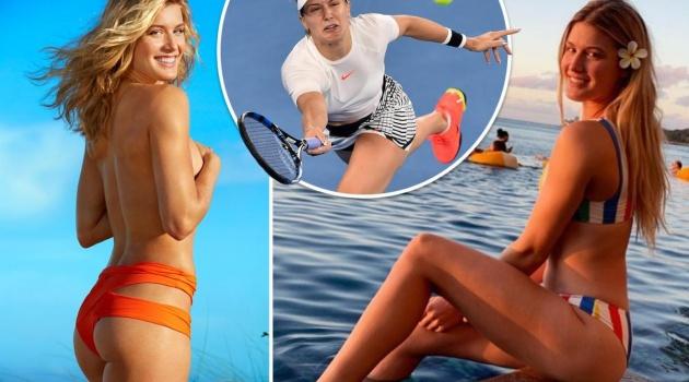Nóng hừng hực với bộ ảnh cởi gần hết của mỹ nhân quần vợt Bouchard