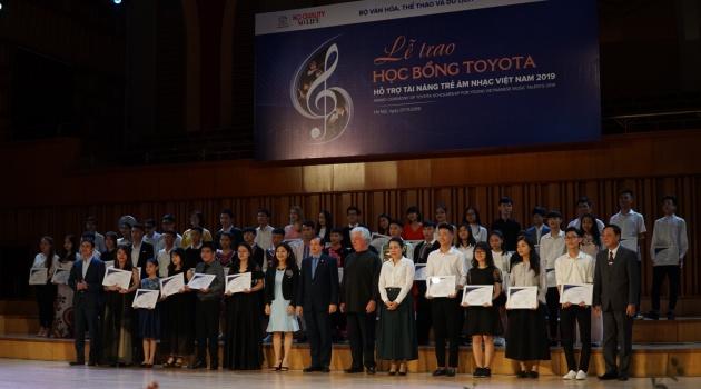 Học bổng Toyota hỗ trợ tài năng trẻ âm nhạc Việt Nam tiếp tục trao tặng 85 suất học bổng