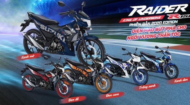 'Cực bốc' với Suzuki Raider R150 Fi phiên bản 2020 tem mới