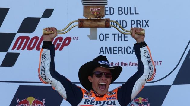 Marquez rạng rỡ trong lần thứ 5 liên tiếp vô địch chặng đua nước Mỹ