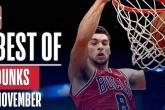 Video những pha dunk đỉnh nhất tháng 11 NBA 2018-19