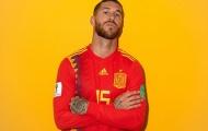 Sergio Ramos tạo dáng cực ngầu, hăm dọa các chân sút tại World Cup 2018