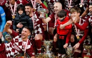 David Villa cùng Iniesta, Podolski giành danh hiệu trong trận đấu cuối cùng của sự nghiệp