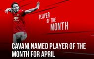 CHÍNH THỨC! Cavani nhận phần thưởng tại Man Utd