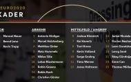Tuyển Đức công bố số áo dự EURO: Bất ngờ Havertz và Muller!
