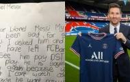 Bé gái viết thư tay năn nỉ Messi ở lại Barca gây bão mạng