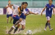 Bóng đá nữ AFF Cup 2012: Lào thắng trong trận thủy chiến.