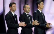"""Cuộc đua tranh QBV FIFA 2012: Iniesta giành """"pole"""""""