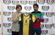 Đội trưởng Malaysia trở thành đại sứ thương hiệu cho 100PLUS