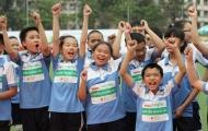 Các VĐV nhí Hà Nội tranh tài sôi động tại cuộc thi chạy '30 người - 31 chân'