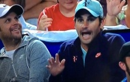 Phì cười với cảnh Roger Federer đánh trống trên khán đài