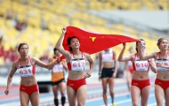 Tuyển tiếp sức 4x100 m nữ mất suất dự ASIAD 2018