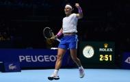 Nadal kết thúc năm ở vị trí số một dù bị loại tại ATP Finals