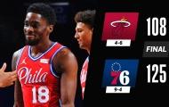 Kết quả NBA 15/1: 76ers ca khúc khải hoàn, GSW tiếp tục vấp ngã