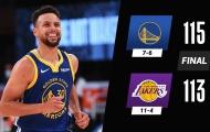 Kết quả NBA 19/1: Curry toả sáng, Lakers 'ôm hận'