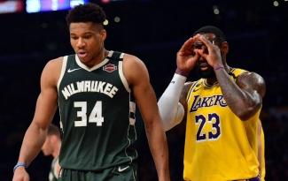 Lịch thi đấu NBA 22/1: Milwaukee Bucks chạm trán Los Angeles Lakers