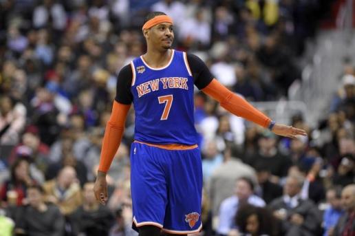 Carmelo Anthony trong màu áo New York Knicks.