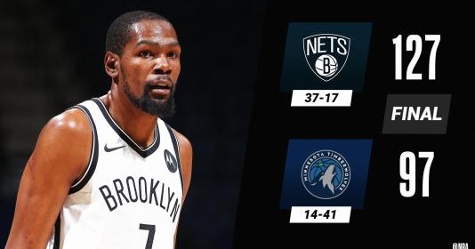 Kết quả NBA 14/4: Nets thăng hoa, Lakers trở lại