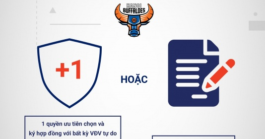Chính thức! Hanoi Buffaloes có sự thay đổi trước thềm VBA Draft 2021