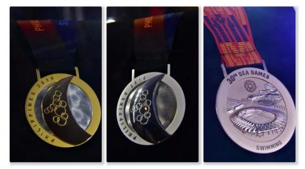 Hình ảnh đầu tiên của 3 chiếc huy chương tại SEA Games 30